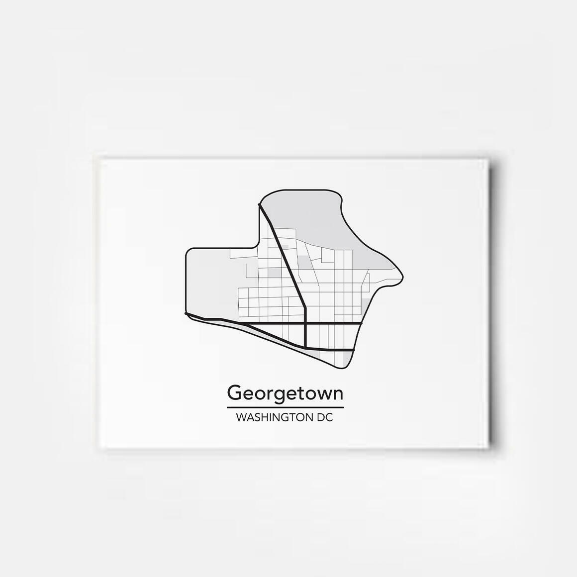 Georgetown - Washington DC Neighborhood Map Print | Trada Marketplace