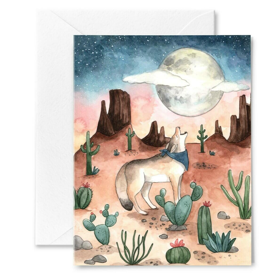 Coyote Moon Card | Trada Marketplace