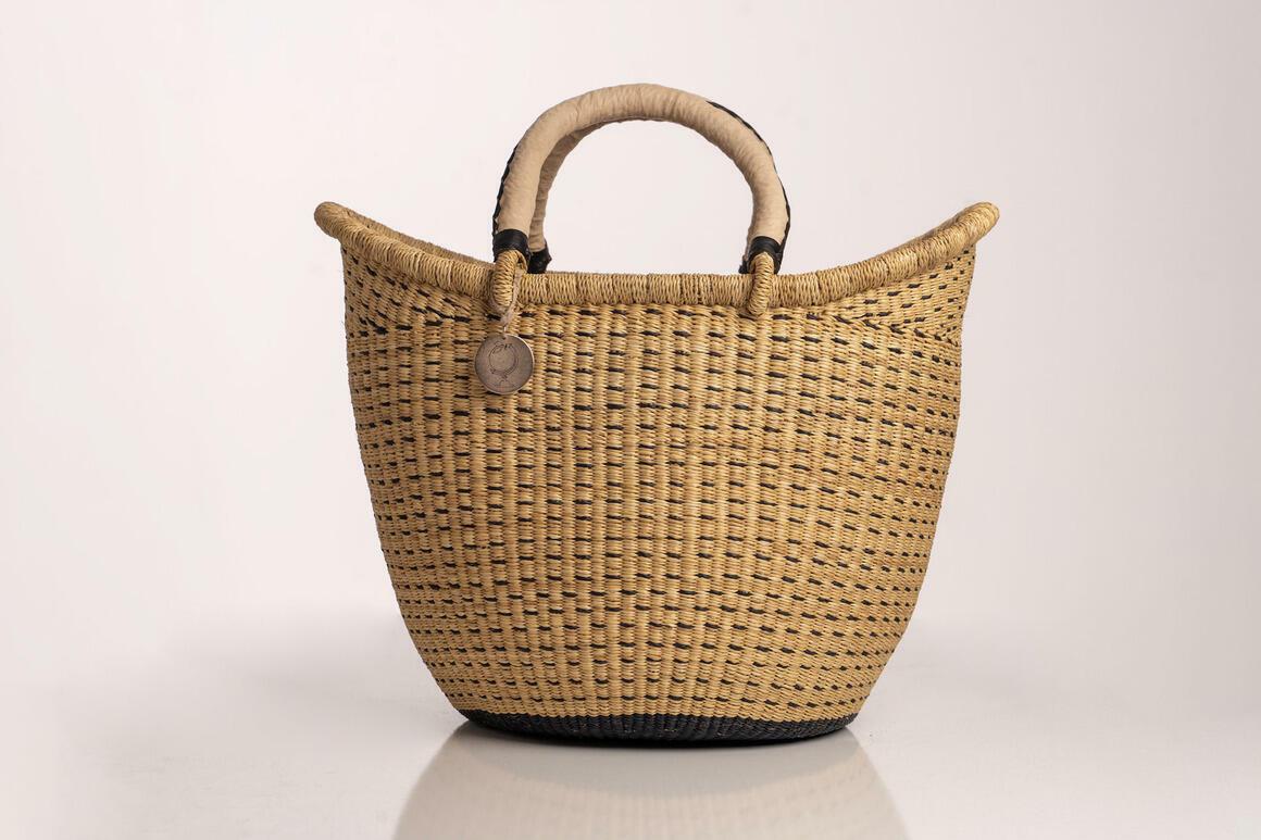 Sonder & H - The Victoria Basket- Style No. 4 Dashed Natural | Trada Marketplace