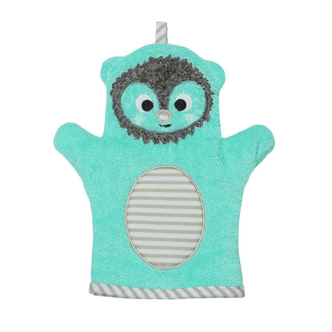 Baby Snow Terry Bath Mitt - Hedgehog 0-18M | Trada Marketplace
