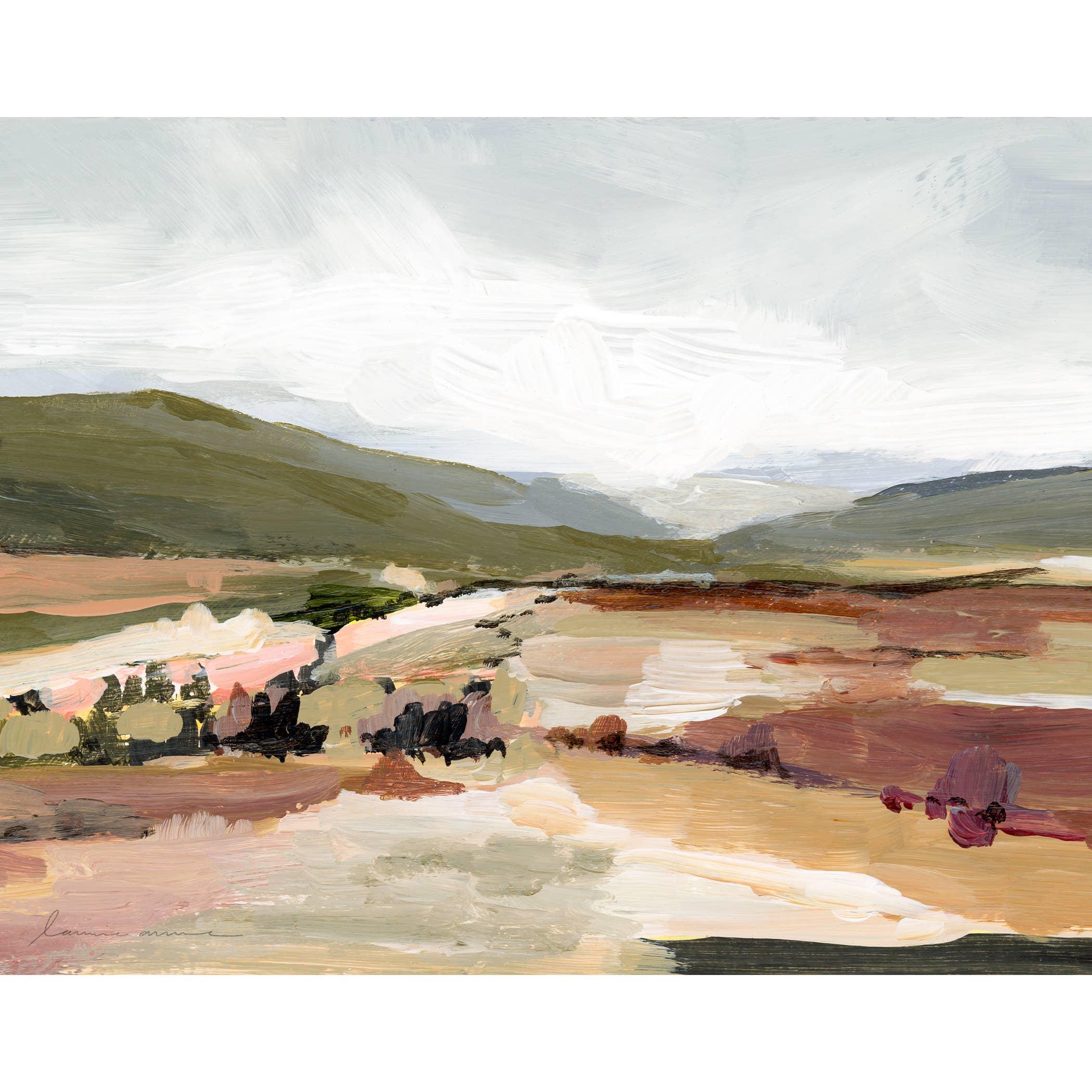 Olive Hills Horizontal Canvas Print   Trada Marketplace