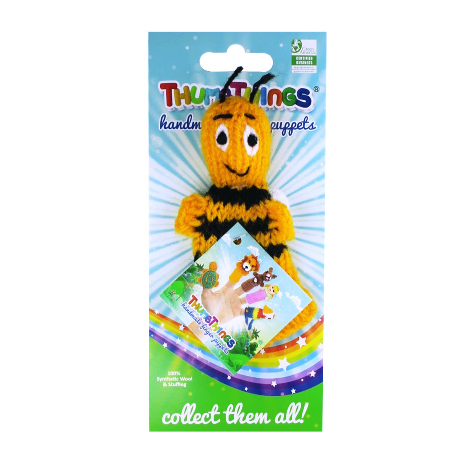 Bumble Bee Finger Puppet   Trada Marketplace
