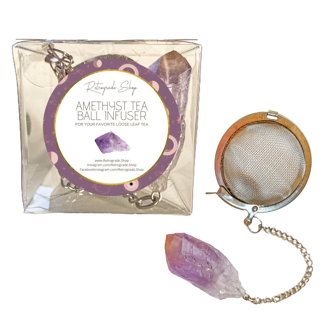 Amethyst Crystal Gemstone 2-Inch Tea Ball Infuser   Trada Marketplace