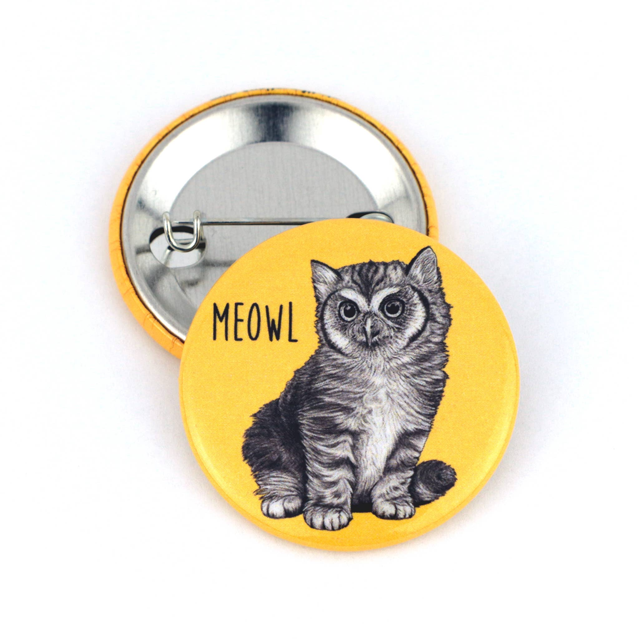 "Meowl 1.5"" Pinback Button   Trada Marketplace"
