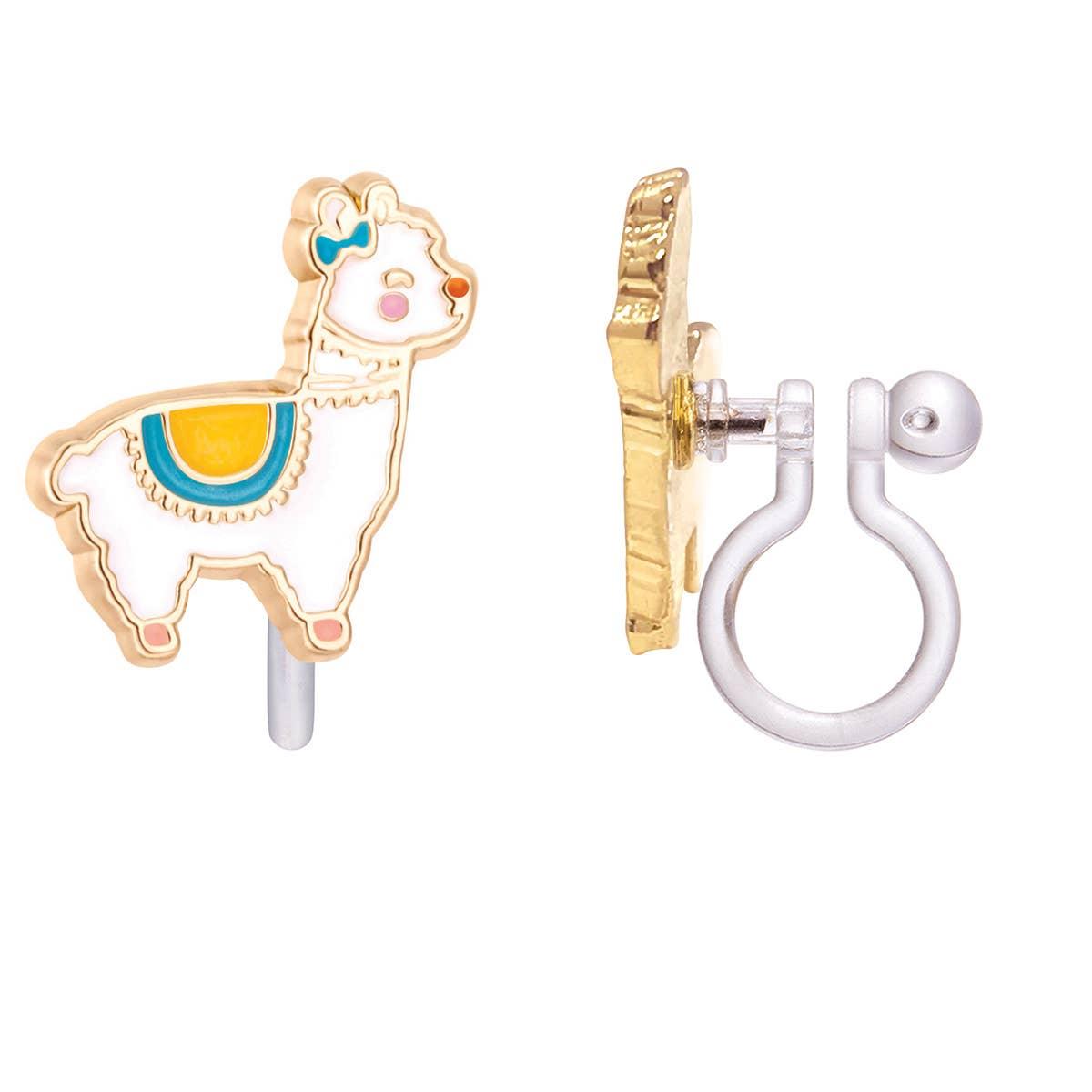 CLIP ON Cutie Earrings- Glama Llama | Trada Marketplace
