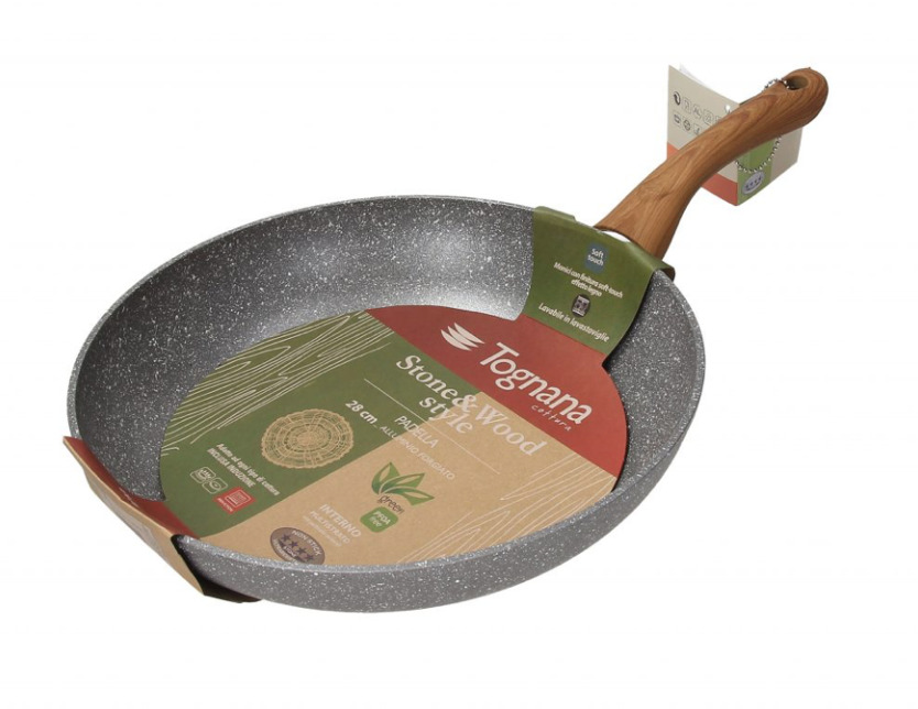 """12.5"""" Wood and Stone Style Fry Pan   Trada Marketplace"""