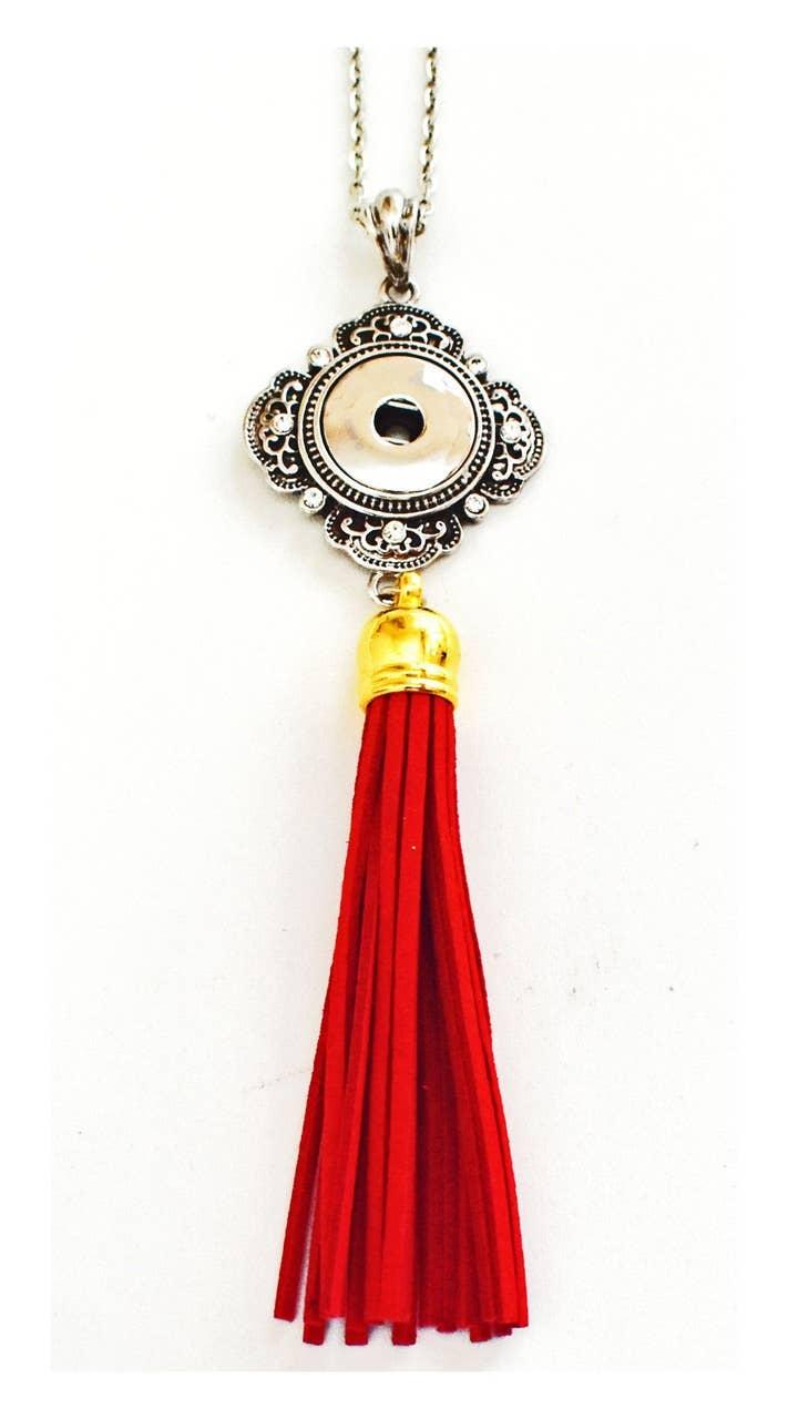 Snap Jewel Madrid Tassel Necklace - Red | Trada Marketplace