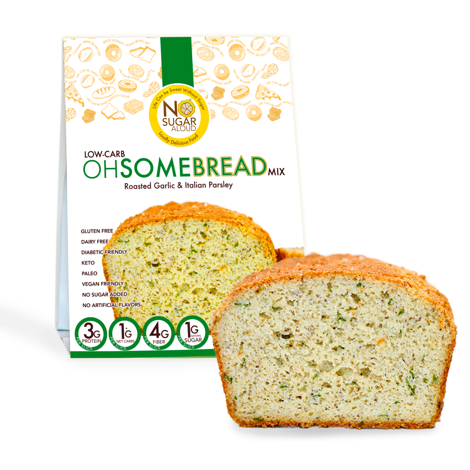 Low Carb OhSome Bread - Roasted Garlic Mix   Trada Marketplace