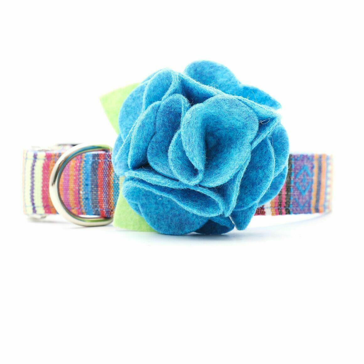 Dog Collar Hydrangea Flower - Tropical Blue   Trada Marketplace