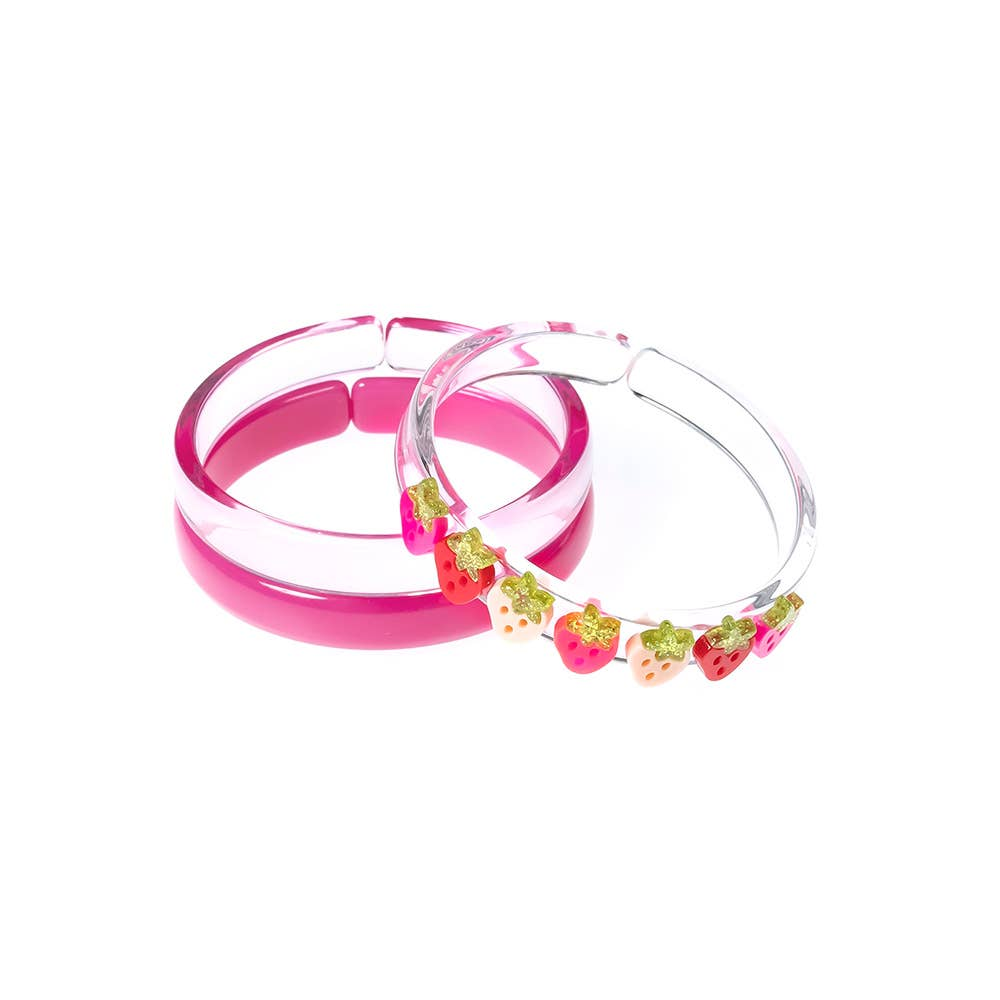Multi Strawberry Pink Red Bangles (set of 3) - Fruit Stand   Trada Marketplace