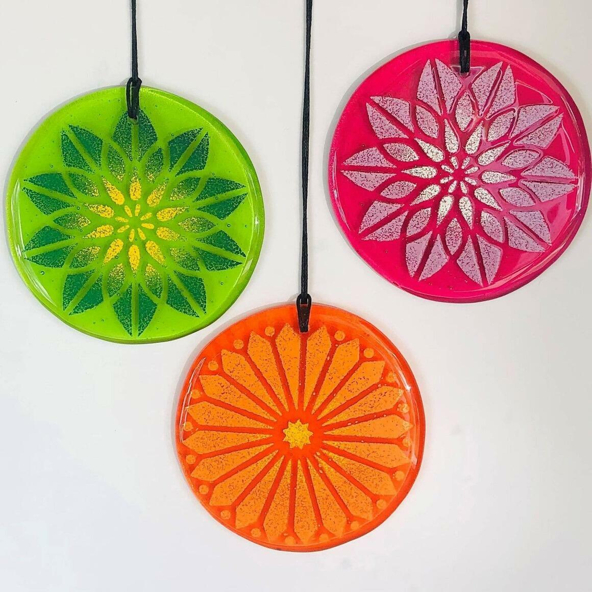 Glass Mandala Window Ornament Suncatcher - Variety Starter Set | Trada Marketplace