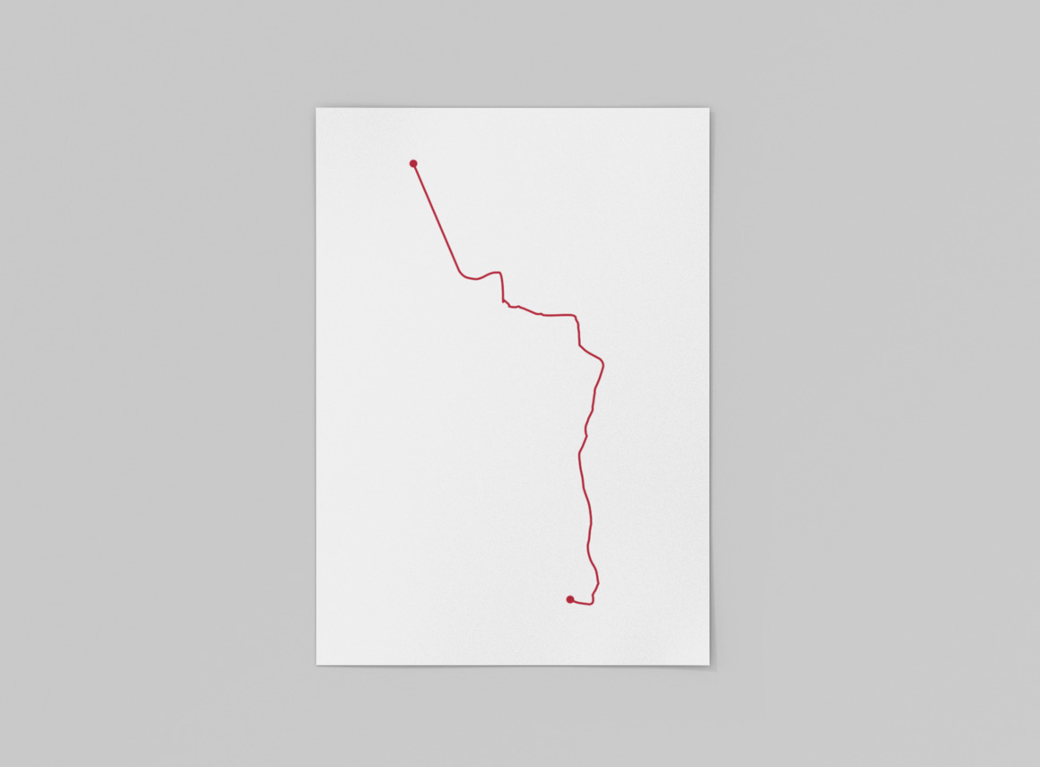 Austin MetroRail Map Print | Trada Marketplace