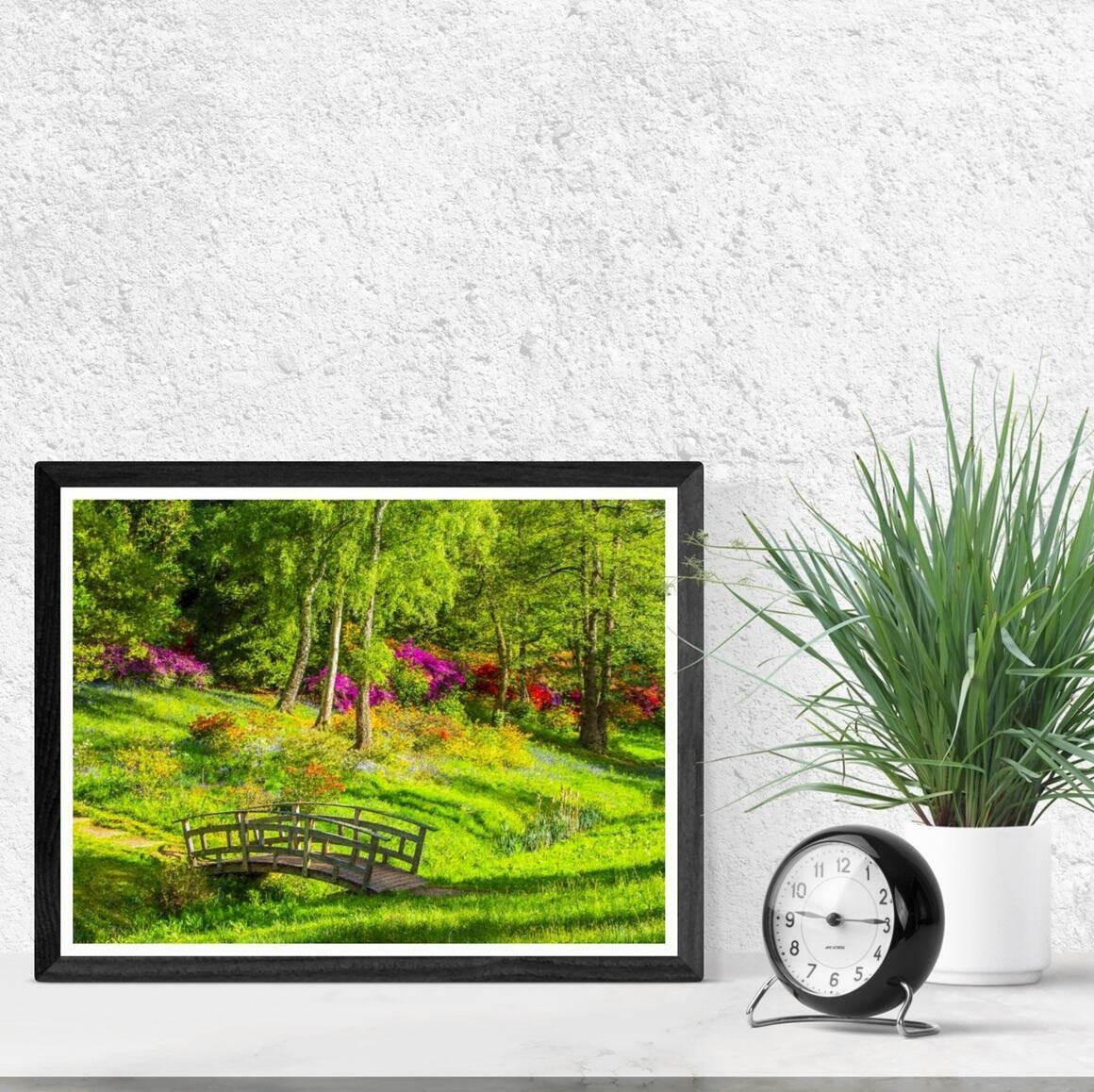 """Garden Footpath Bridge"" Fine Art Print | Trada Marketplace"