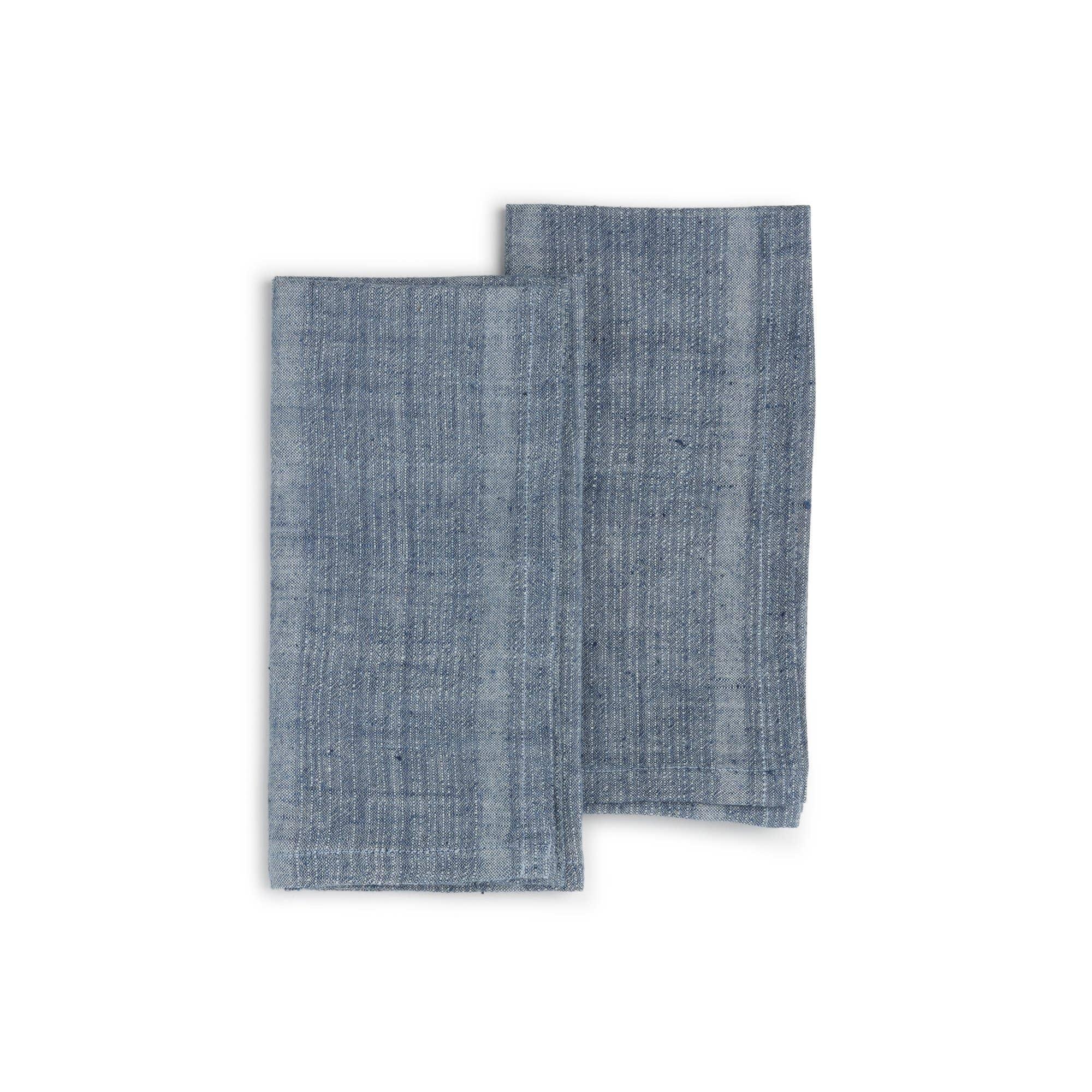 INDIGO SEA Napkin (set of 2), Organic Cotton w/ Natural Dyes | Trada Marketplace