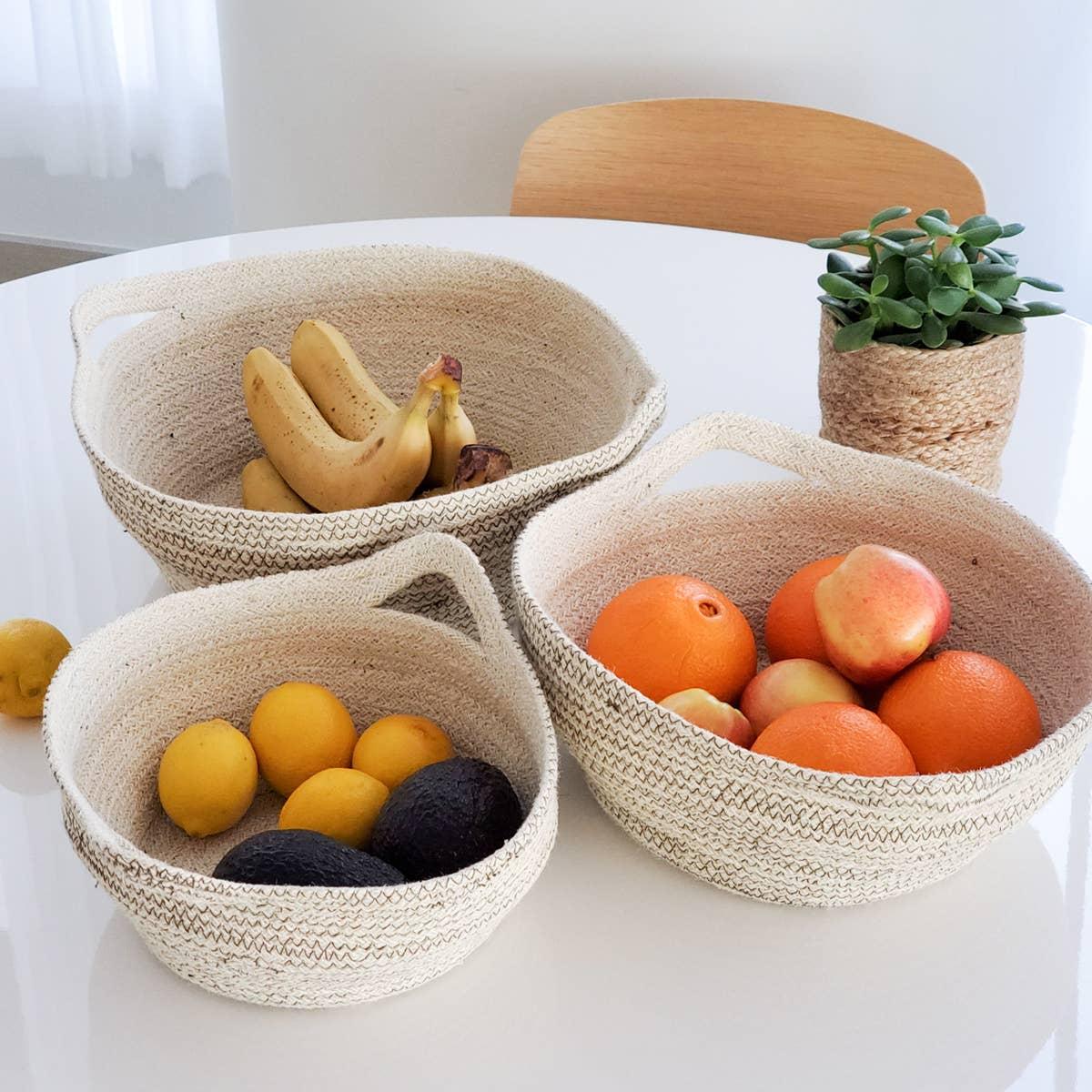 Amari Fruit Bowl - Brown (Set of 3) | Trada Marketplace