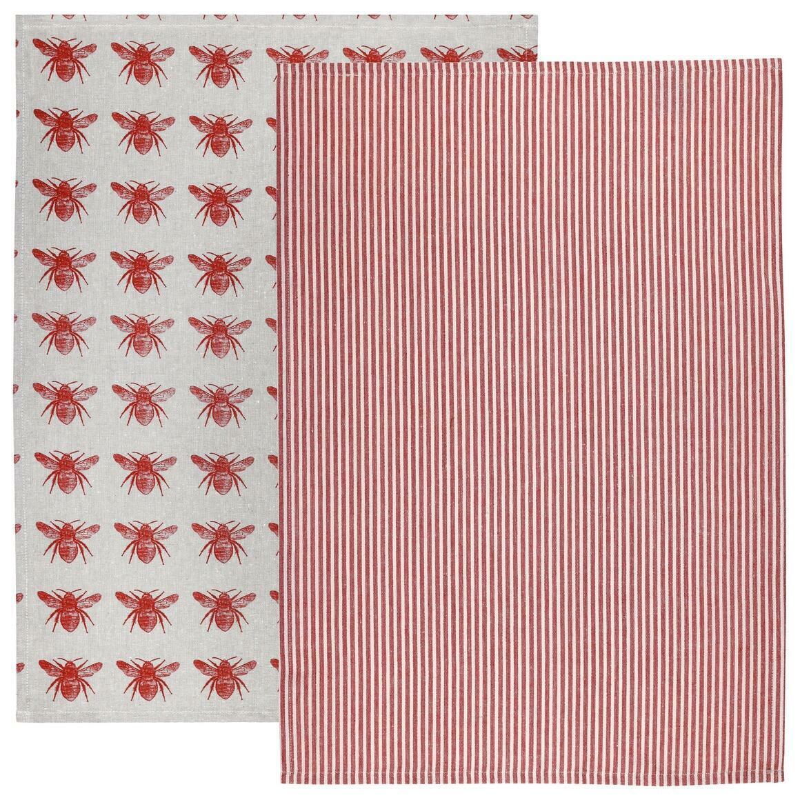Terra Cotta Honey Bee Tea Towel Pack | Trada Marketplace