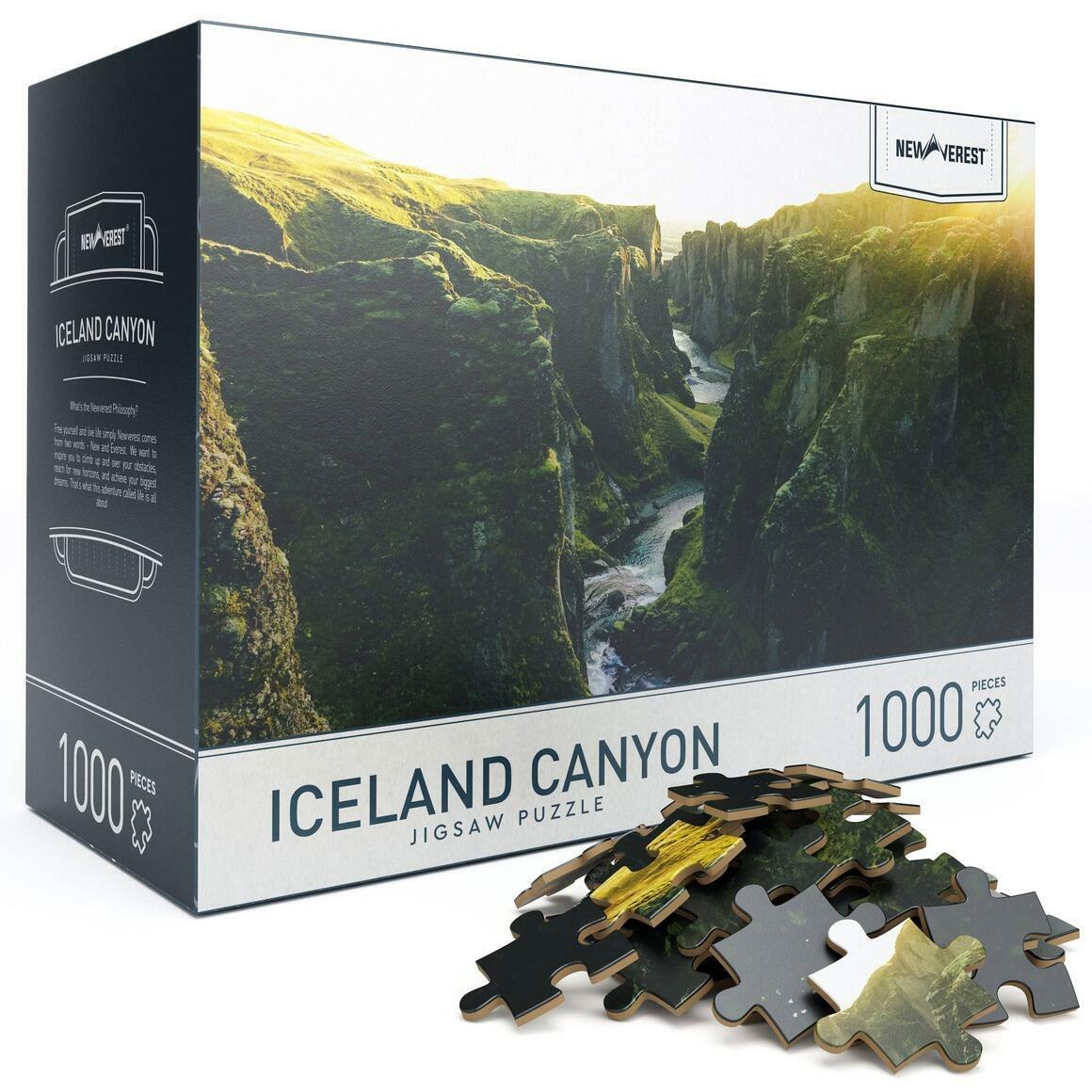 1000 pcs Newverest Iceland Canyon Jigsaw Puzzle | Trada Marketplace