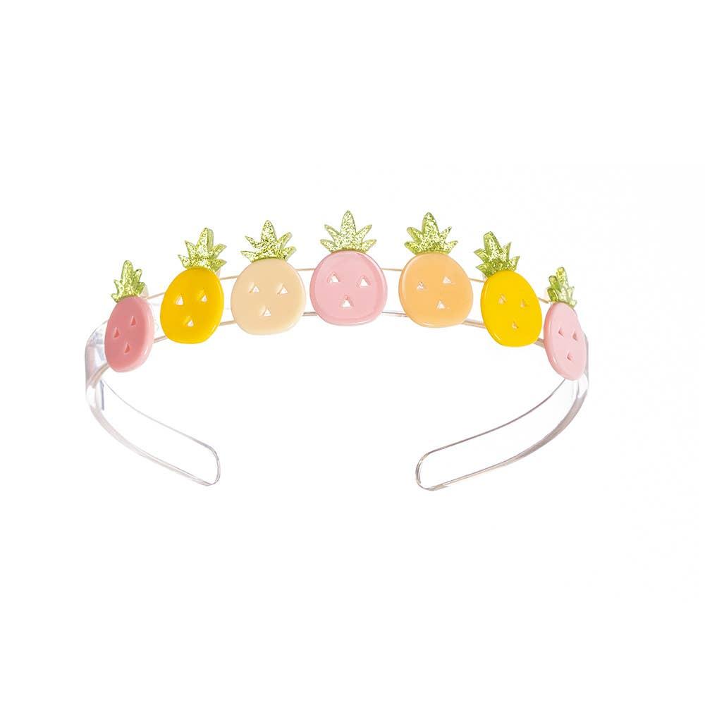 Multi Pineapple Pink Yellow Headband - Fruit Stand   Trada Marketplace