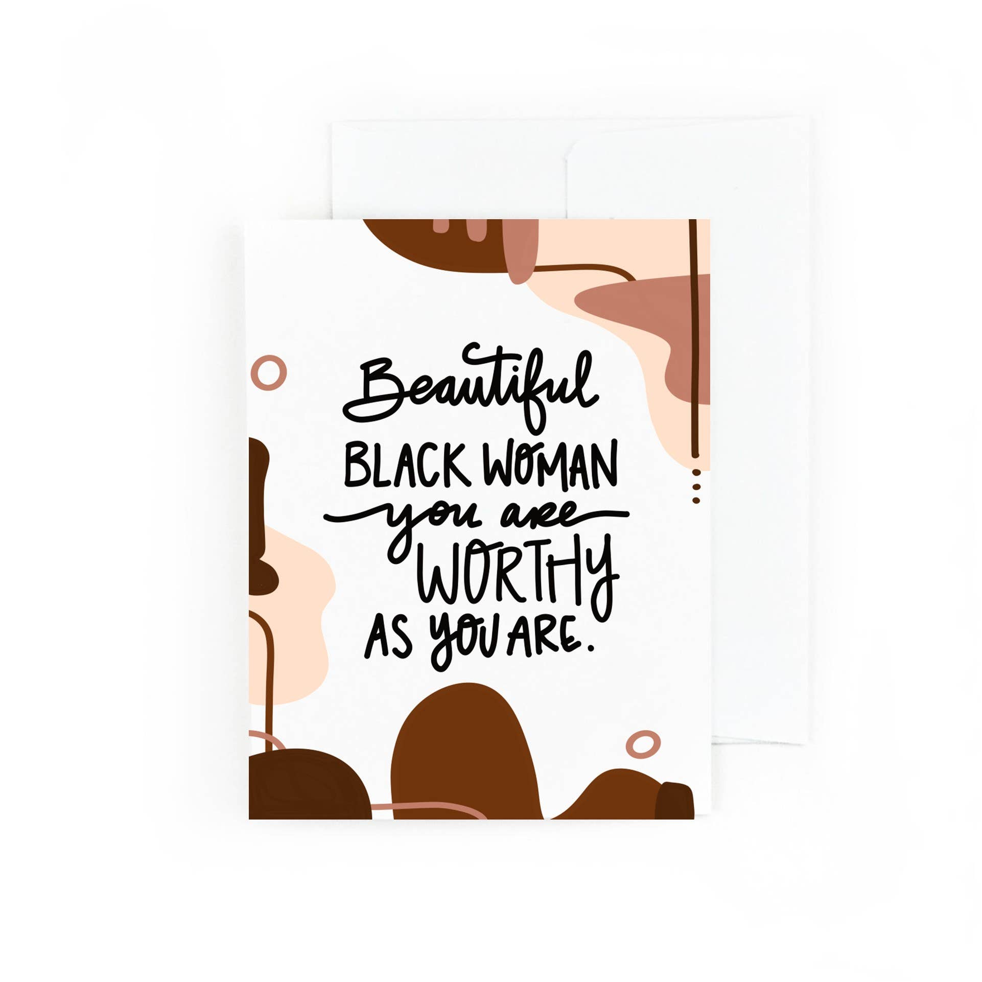 Beautiful Black Woman You Are Worthy As You Are | Trada Marketplace