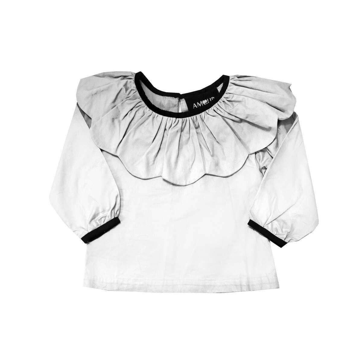 Joker Ruffle Shirt - White | Trada Marketplace