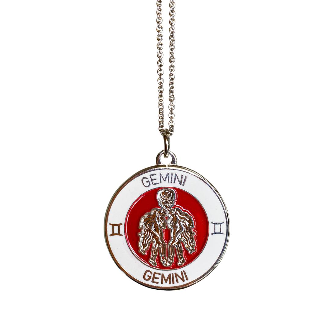 Gemini Enamel Zodiac Pendant   Trada Marketplace