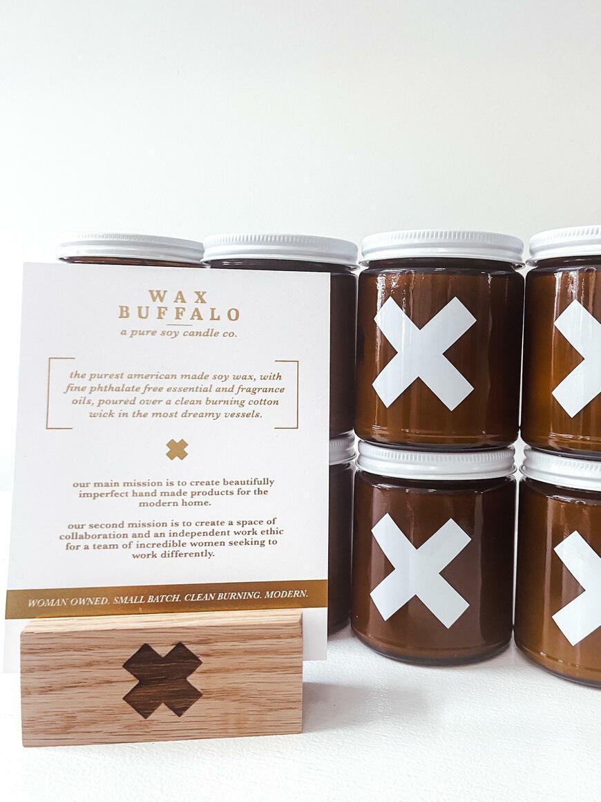 wax buffalo display card and block set | Trada Marketplace