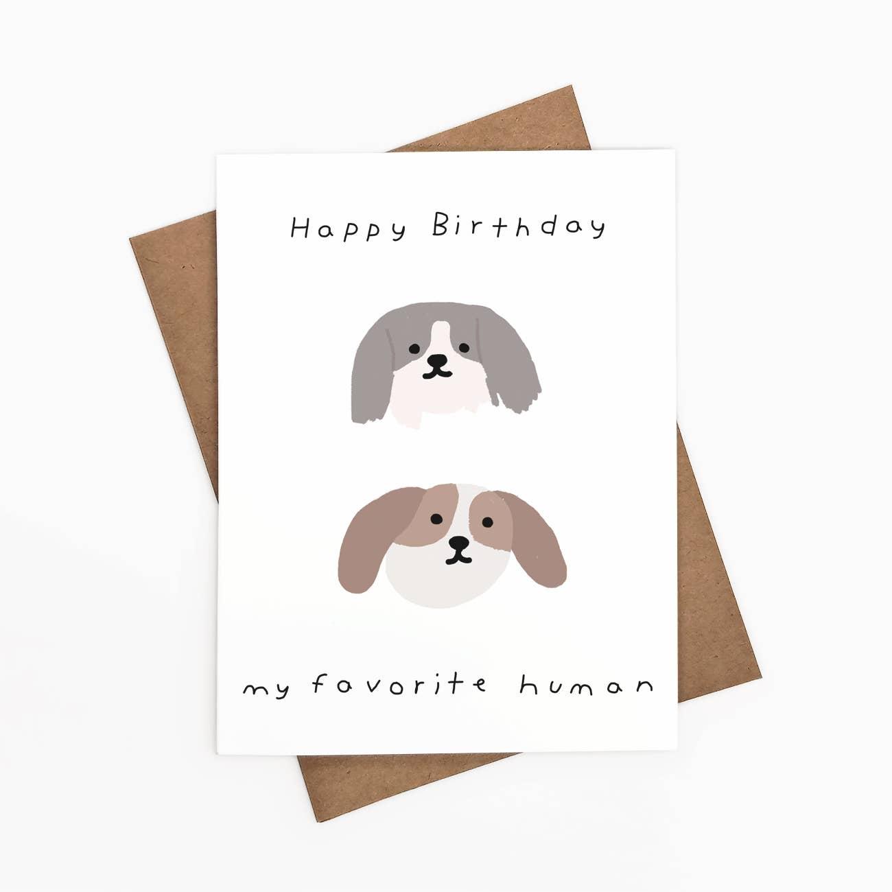 Happy Birthday My Favorite Human Greeting Card   Trada Marketplace