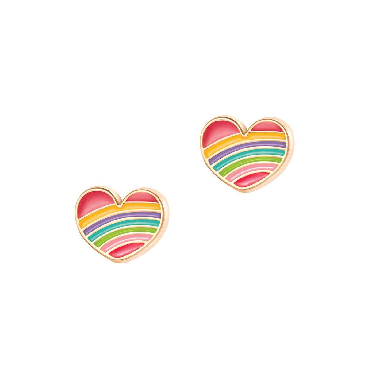 Rainbow Heart- Cutie Studs | Trada Marketplace