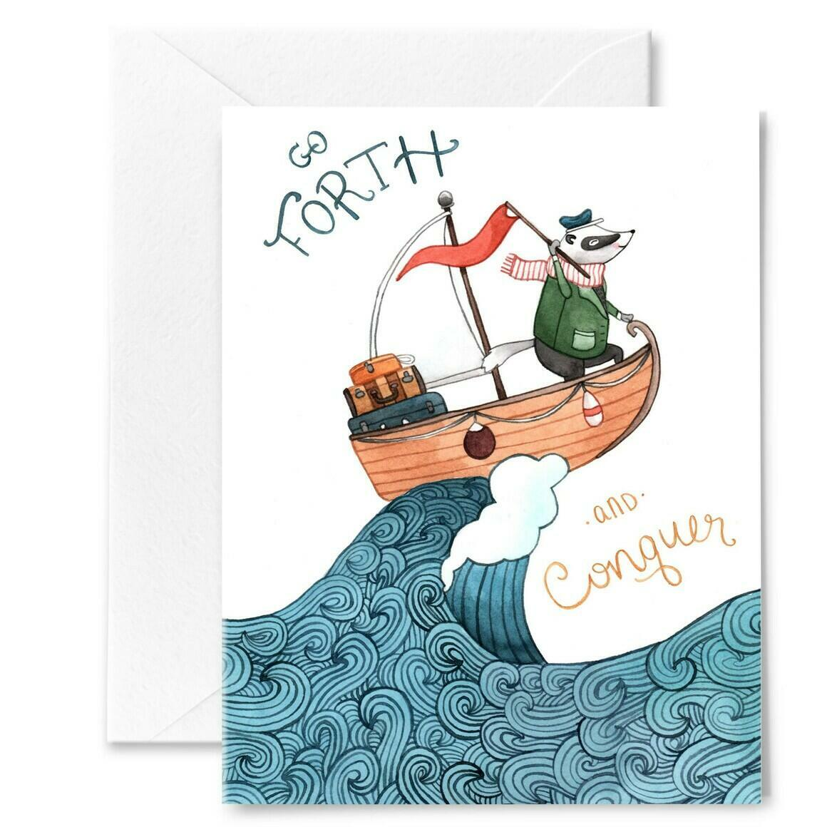 Go Forth and Conquer Card | Trada Marketplace