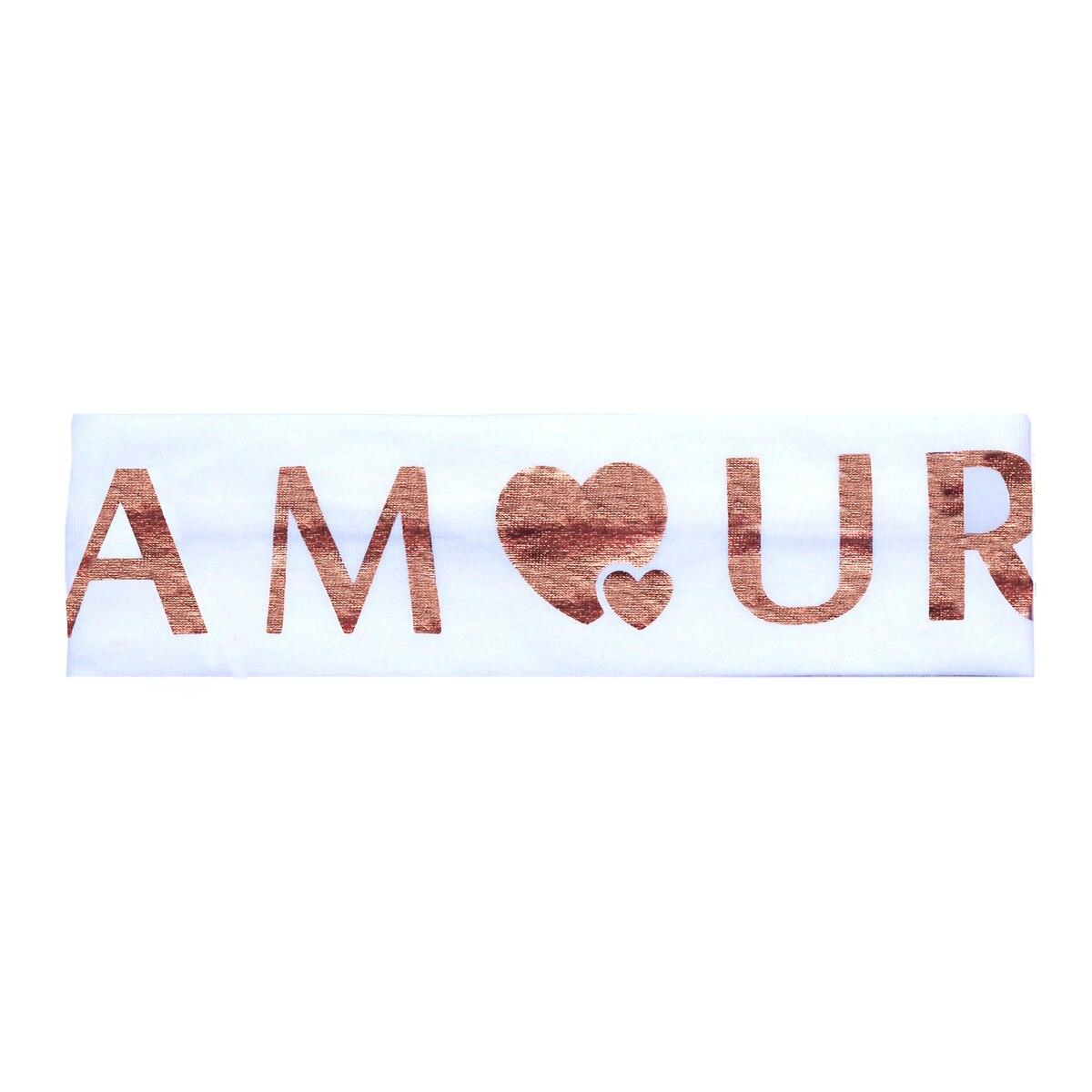 Amour Head Wrap + Colors - WHITE/ROSE | Trada Marketplace