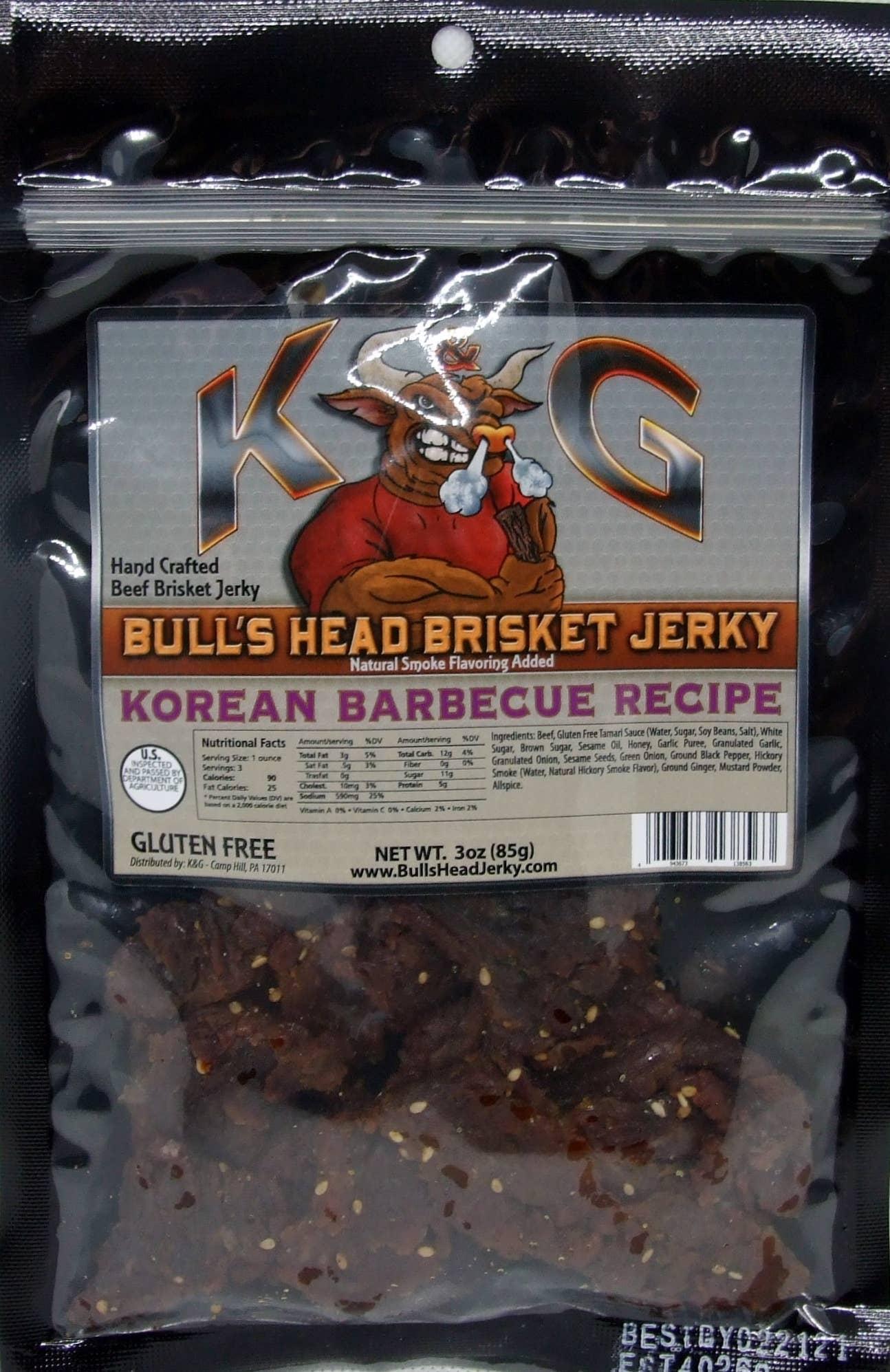 3 oz Korean BBQ Brisket Beef Jerky | Trada Marketplace
