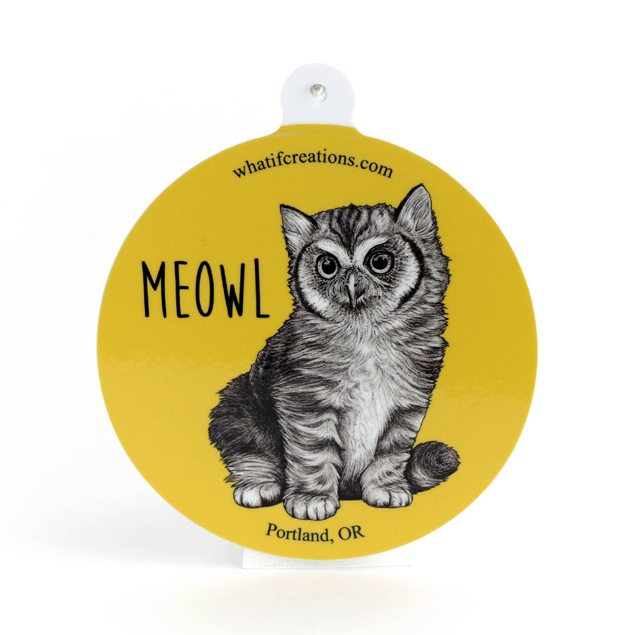 "Meowl 3"" Vinyl Sticker   Trada Marketplace"