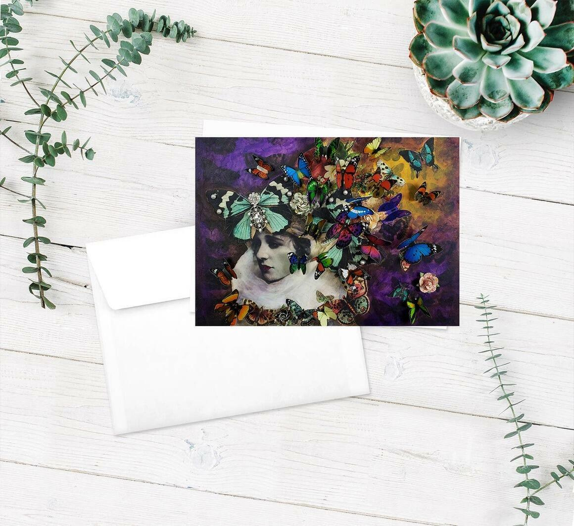 Wings Greeting Cards pkg of 5   Trada Marketplace