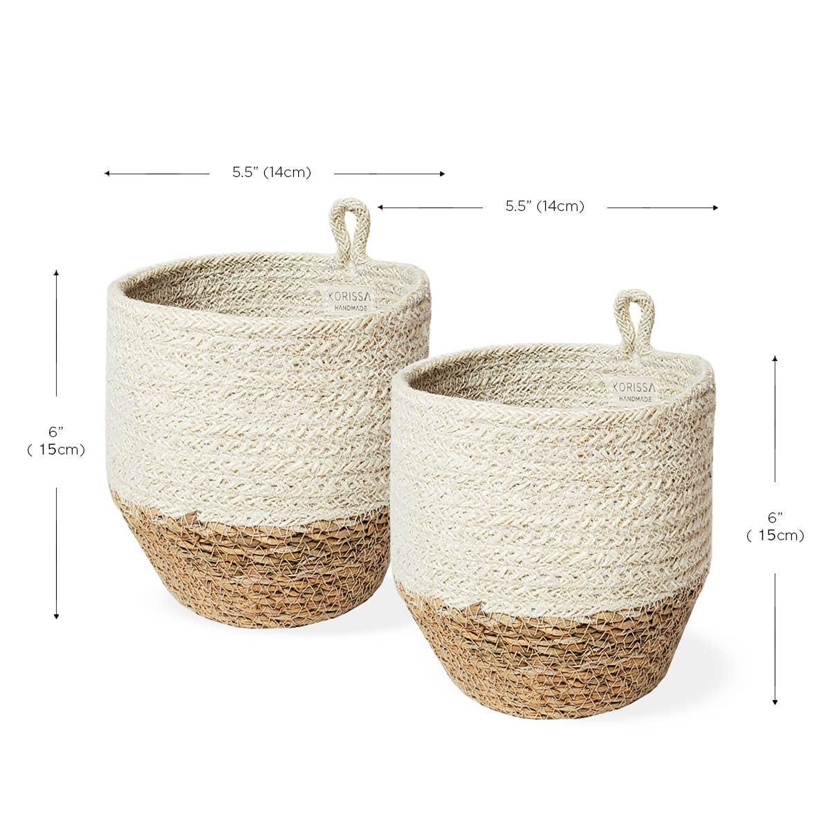 Amari Loop Bin - Natural (Set of 2) | Trada Marketplace