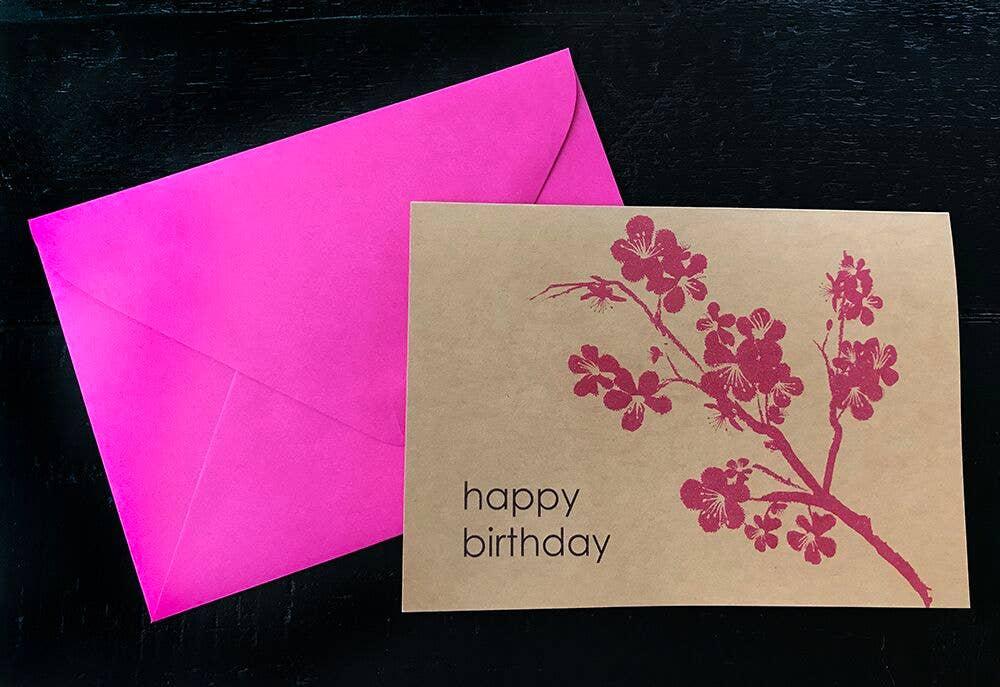 Happy Birthday Blossoms Single Card | Trada Marketplace