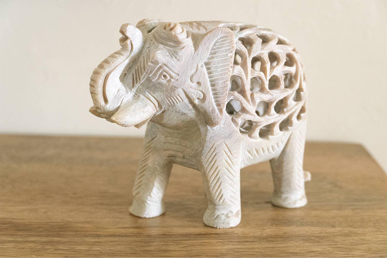 Marble Hand Carved Elephant   Trada Marketplace
