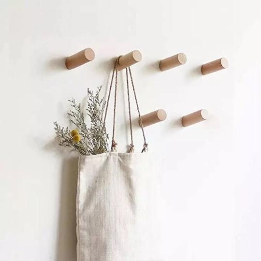 Modern Wall/ coat hooks - Walnut   Trada Marketplace