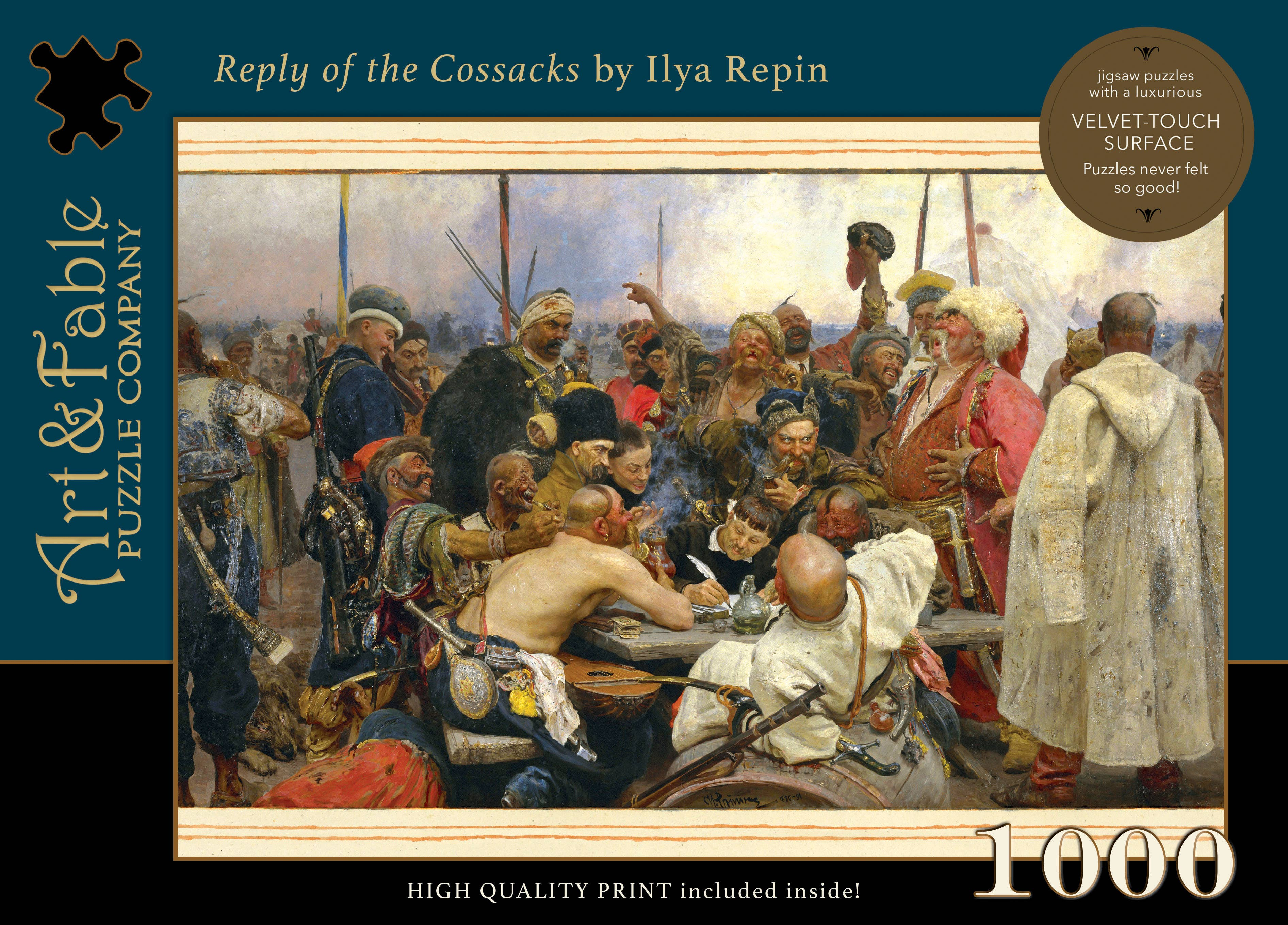 Reply of the Cossacks, 1000-pc Velvet-Touch Puzzle | Trada Marketplace