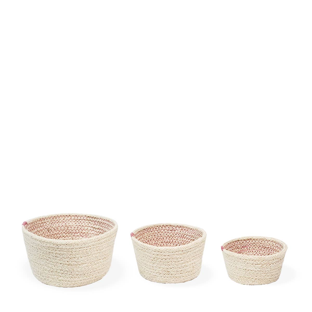 Amari Bowl - Pink (Set of 3)   Trada Marketplace