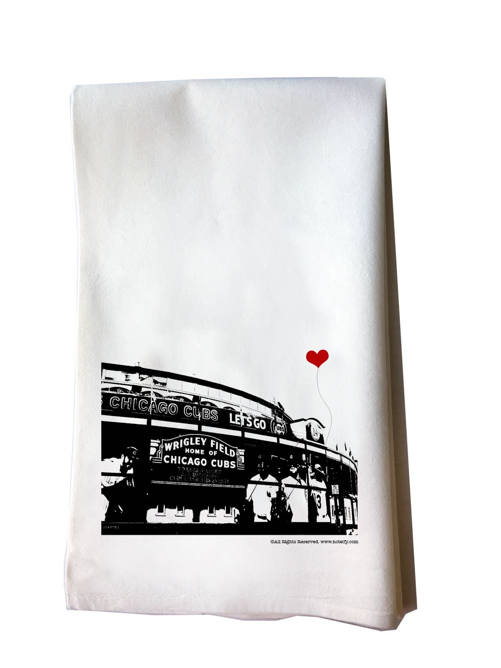 Chicago Wrigley Field Tea Towel | Trada Marketplace