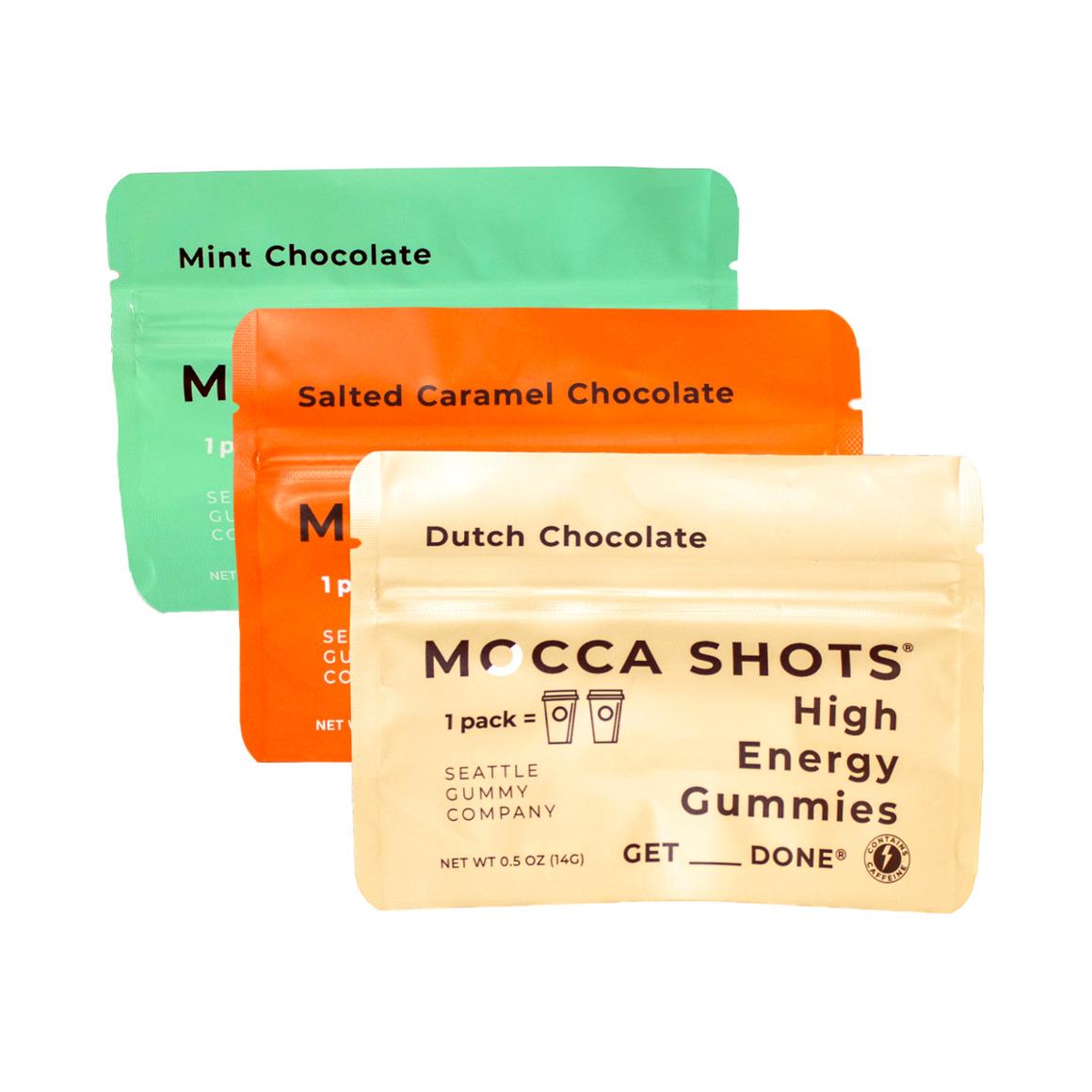 Mocca Shots Caffein Gummies Sample Pack (3-Pack)   Trada Marketplace