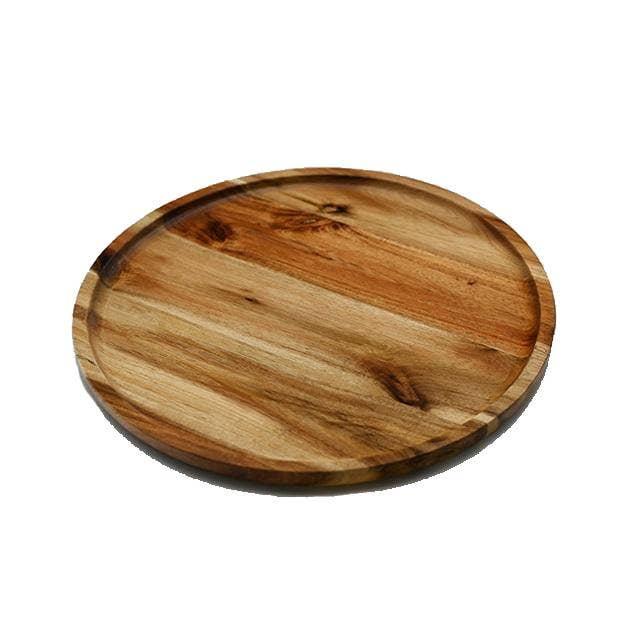 "12"" Diameter Acacia Round Plate / Platter   Trada Marketplace"