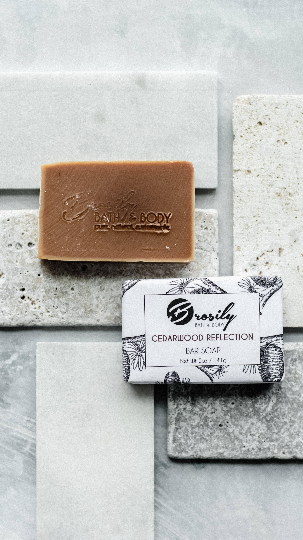 Bar Soap - Cedarwood Reflection Vegan Soap   Trada Marketplace