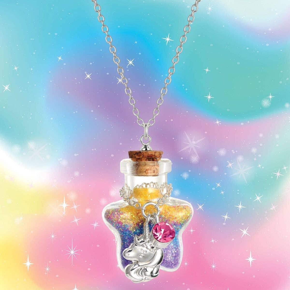 Magic in a Bottle Charm Necklace- Unicorn | Trada Marketplace
