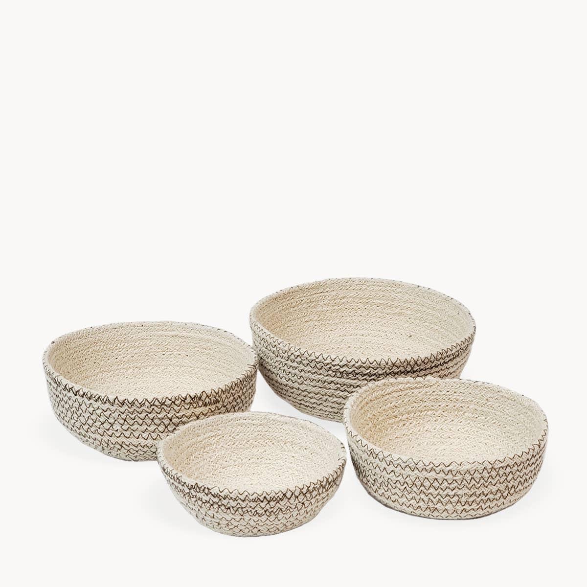 Amari Round Bowl - Brown (Set of 4) | Trada Marketplace