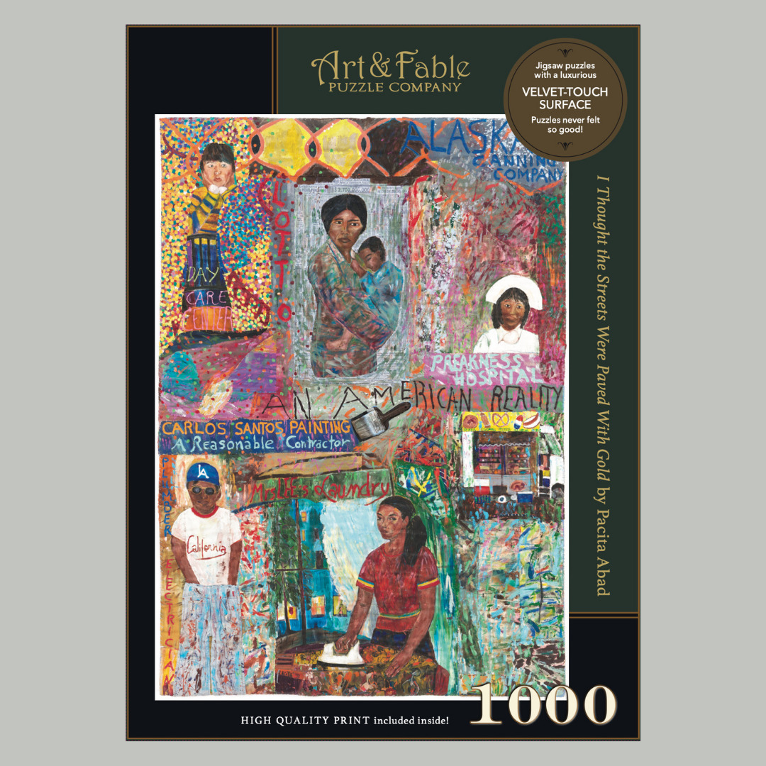 I Thought the Streets were Paved wIth Gold, 1000-pc Velvet-Touch Jigsaw Puzzle by Pacita Abad | Trada Marketplace