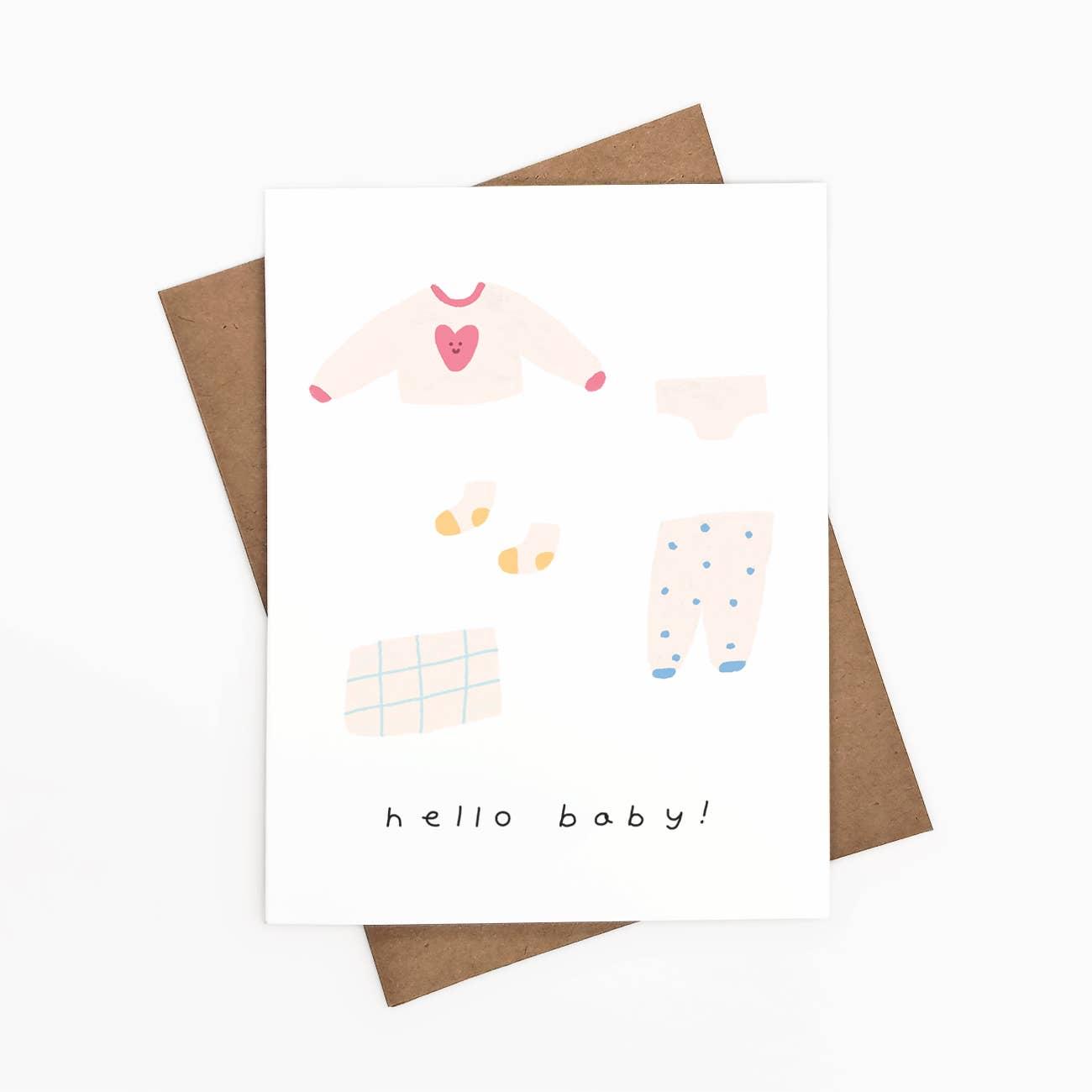 Hello Baby! Greeting Card   Trada Marketplace