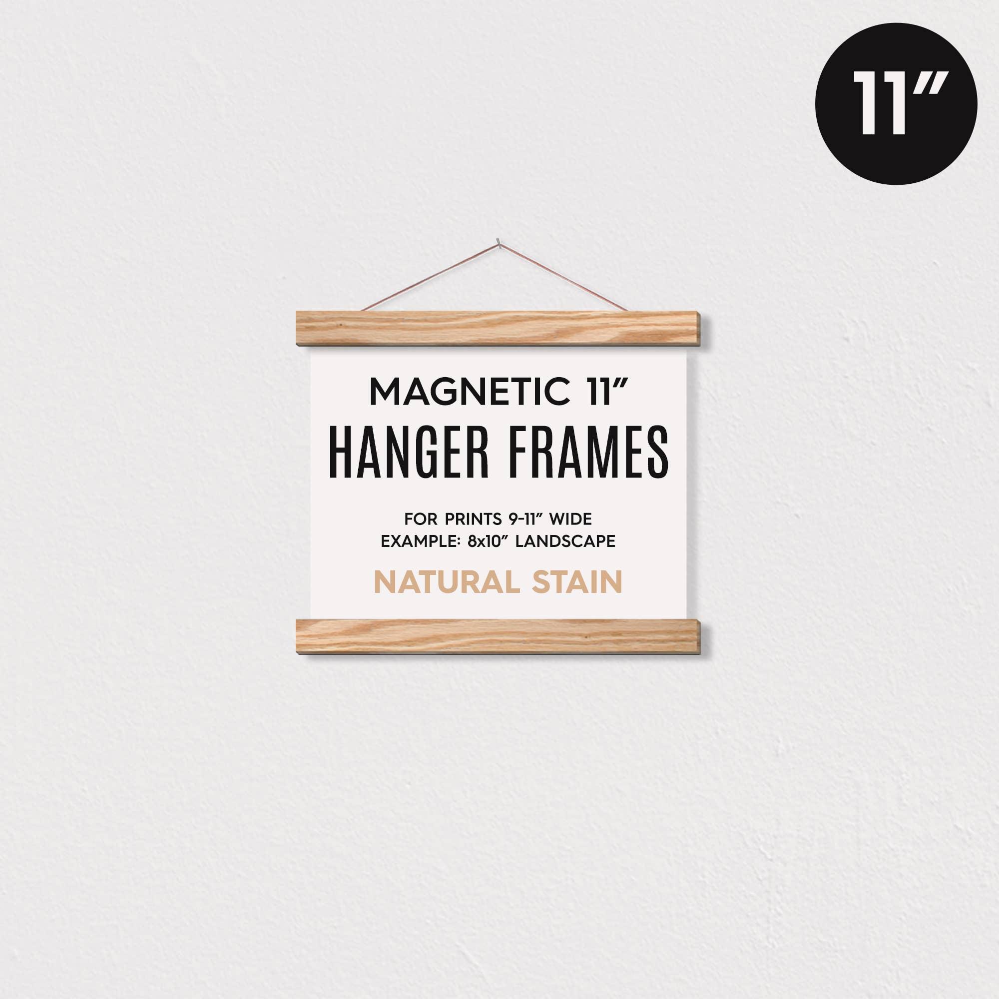 """11"""" MAGNETIC Poster Hanger Frame for 8x10 Landscape Prints   Trada Marketplace"""