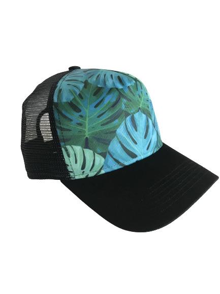 Black Monstera Trucker Hat | Trada Marketplace