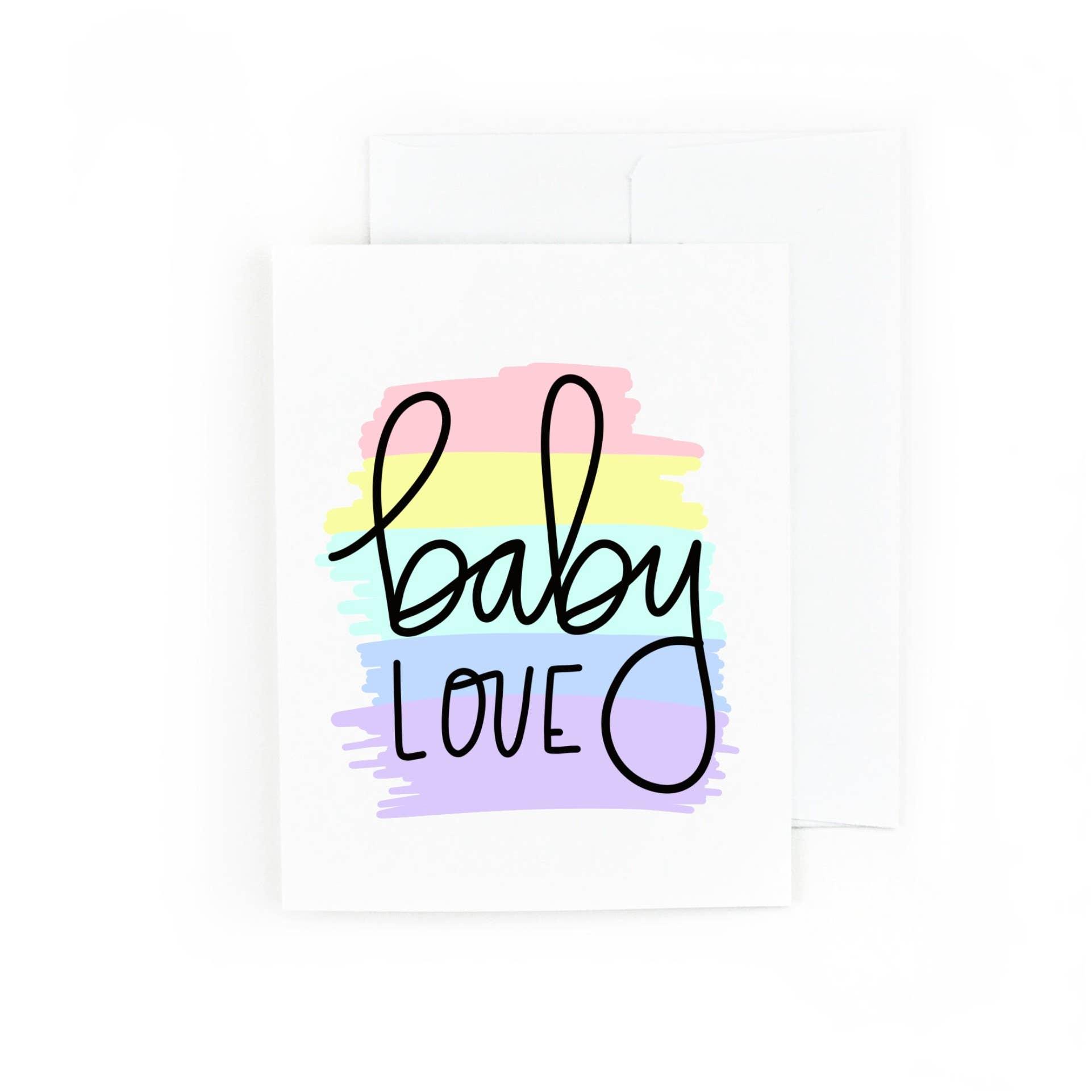 Baby Love, New Baby Greeting Card | Trada Marketplace